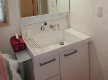 使いやすい大きな洗面ボウルと汚れにくい壁付きシャワー水栓が魅力です。